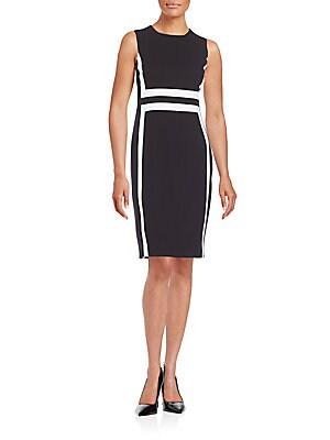 Contrast Paneled Sheath Dress