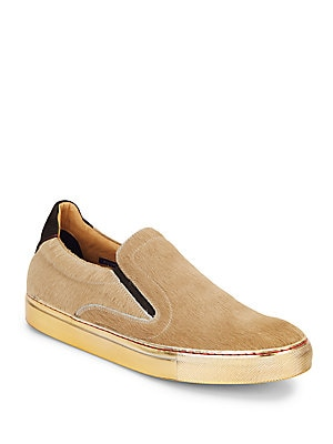 Rolo Calf Hair & Leather Slip-On Sneakers