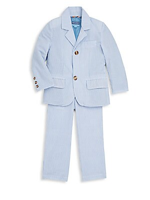 Toddler Boy's Two-Piece Seersucker Cotton Suit