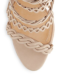 Leonora Braided & Cutout Leather Booties