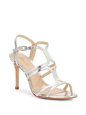 Malinda Metallic Leather Sandals