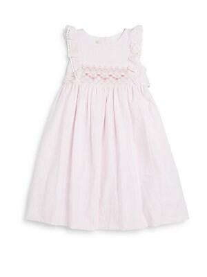 Toddler's & Little Girl's Smocked Cotton Seersucker Dress