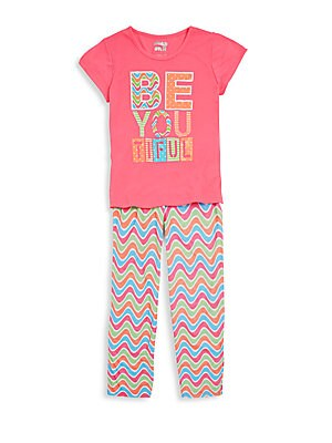 Girl's Be You Tiful Pajama Set