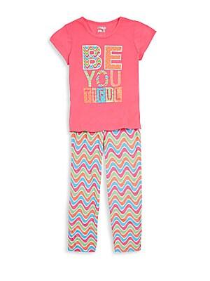 Girl's Be You Tiful Pajama Set