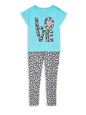 Girl's Love Sleep Set