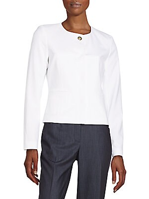 Cropped Knit Jacket