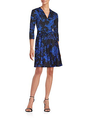 Valerie Floral Print Wrap Dress