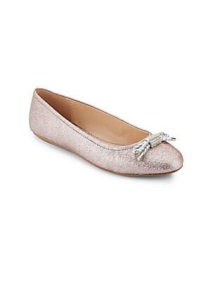 Silver Stardust Ballet Flats