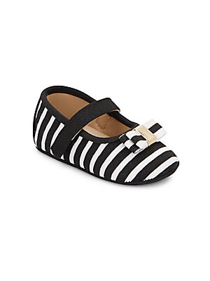 Baby's Striped Mary Jane Flats