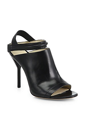Strappy Leather Open-Toe Sandals