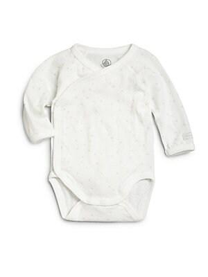 Infant's Star-Print Wrap Bodysuit