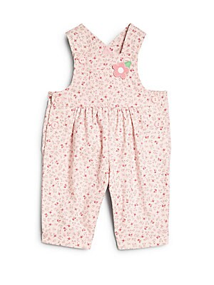 Baby's Floral Corduroy Overalls