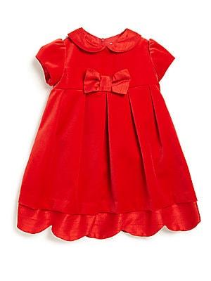 Toddler's & Little Girl's Silk-Trimmed Velvet Dress