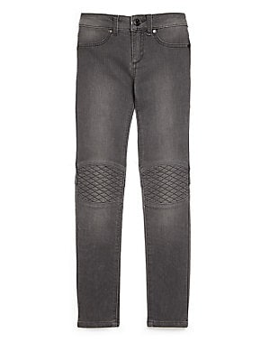 Girl's Quilted-Knee Jeggings
