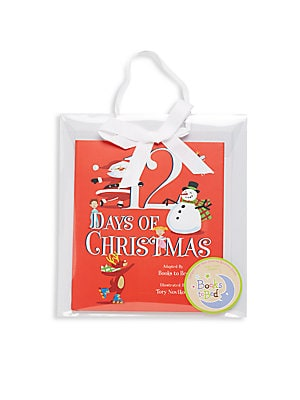 Little Girl's Twelve Days of Christmas 2-Piece Printed Nightgown and Book Set