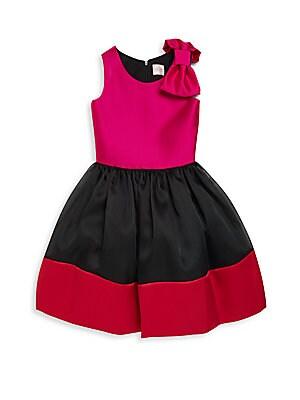 Girl's Sleeveless Colorblock Dress