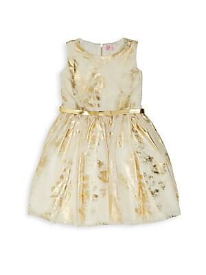 Girl's Sleeveless Fit-&-Flare Dress