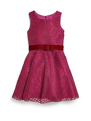 Girl's Knit Lace Dress