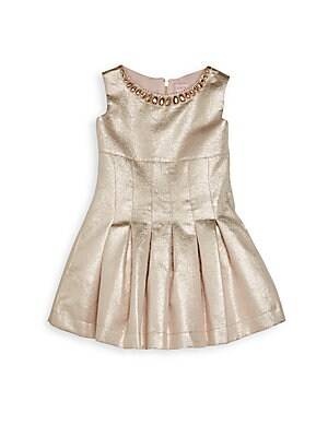 Girl's Box Pleated Dress
