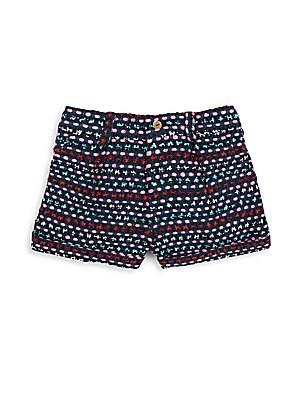 Little Girl's & Girl's Embroidered Shorts