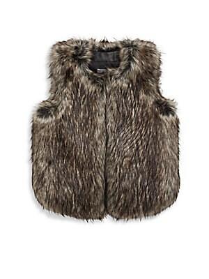Girl's Faux Fur Vest