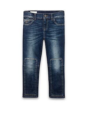 Little Boy's & Boy's Patch-Detail Skinny Jeans