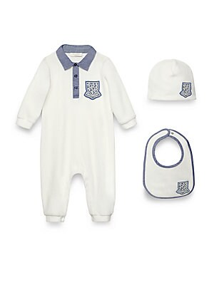 Baby's Three-Piece Horses Patch Coverall Set
