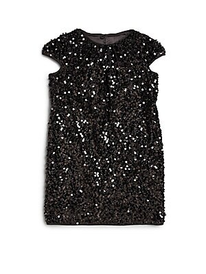 Little Girl's Stretch Sequined Dress