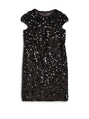 Girl's Stretch Sequined Dress
