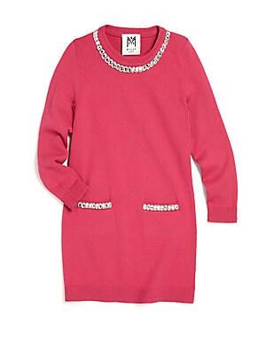 Girl's Embellished Sweater Dress