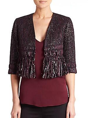 Couture Fringe Tweed Jacket