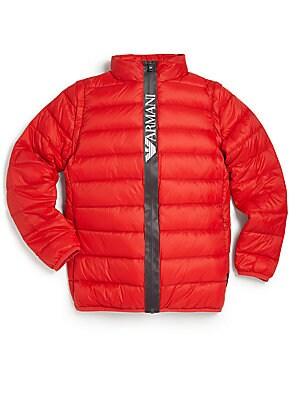 Boy's Convertible Puffer Jacket