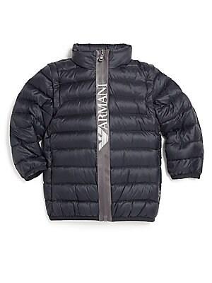 Little Boy's Convertible Puffer Jacket
