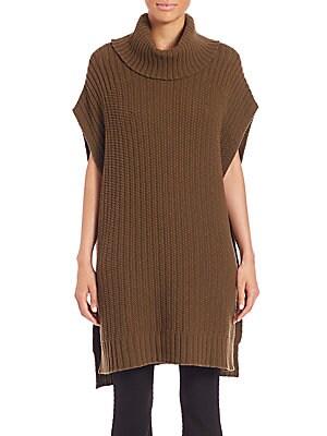 Boseley Fine Haven Wool/Cashmere Turtleneck Poncho