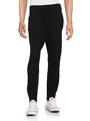 Solid Cashmere Blend Jogger Pants