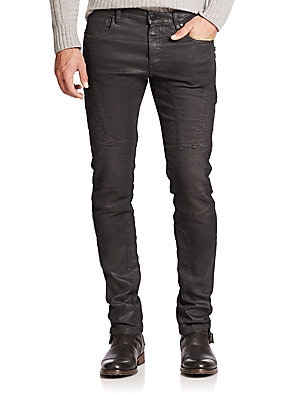 Eversely Slim-Fit Moto Jeans