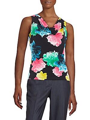 Floral-Print Knit Top