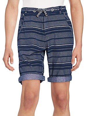Multistriped Cotton Shorts