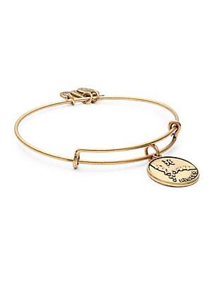 Pisces Charm Bangle Bracelet