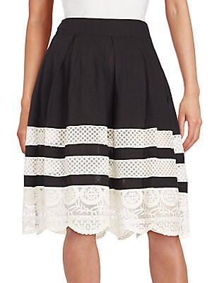 Lace-Inset Skirt