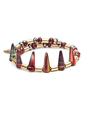 Crimson Aura Beaded Bracelet