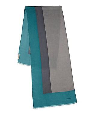 Colorblock Wool, Cashmere & Silk Scarf