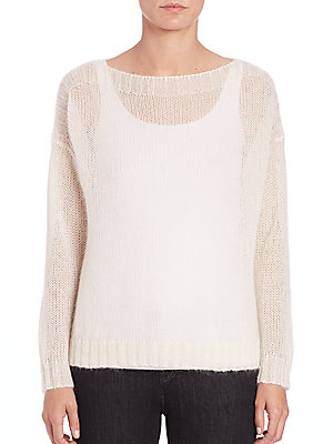 Airy Mohair-Blend Boxy Sweater