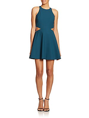 Emorie Cutout Fit-And-Flare Dress