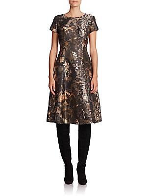 Corey Abstract Print Satin Dress