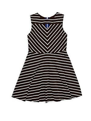 Girl's Rachel Horizontal Striped Dress