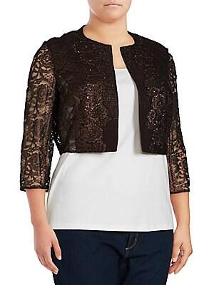 Metallic Tweed & Lace Jacket