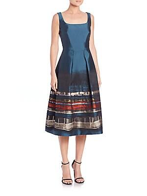 Printed Jacquard Sleeveless Dress
