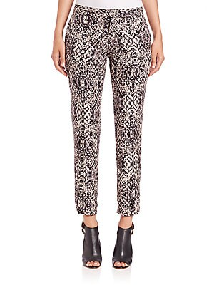 The Tailored Snake-Print Pants