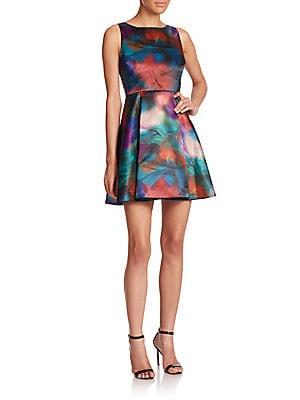 Belia Lace-Back Watercolor Dress
